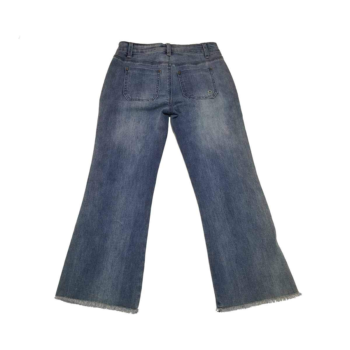 79b4b56dc5f Indigo Rein Junior Size Jeans 1 Button Fly Crop Slim Leg w  Topstitch Blue  at Amazon Women s Jeans store
