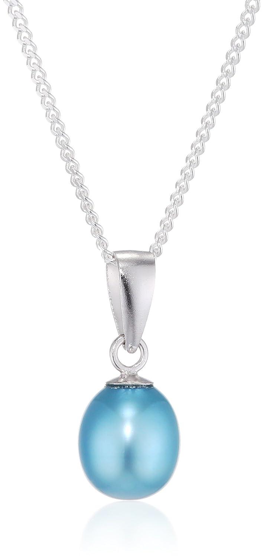 Kimura Pearls - 925 Sterling-Silber Silber Tropfenschliff Tropfenform China-Zuchtperle türkis Perle S07P-0032