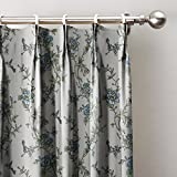 Spring Blue Flowers Country Print Curtains 100''W x 96''L, Pinch Pleat Blackout Lining Darpes Panel For Bedroom Living Room Hotel Restaurant (1 Panel)