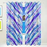 Vantaso Light Shading Window Curtains Watercolor Abstract Sky Painting Polyester 2 Pannels for Kids Girls Boys Bedroom Living Room 84 inch x 55 inch