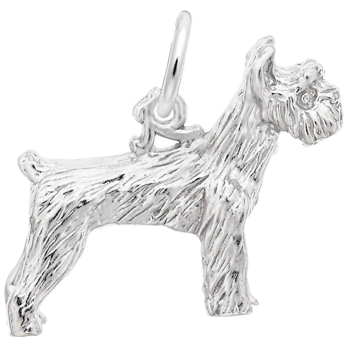Rembrandt Charms Schnauzer Charm, Sterling Silver by Rembrandt Charms