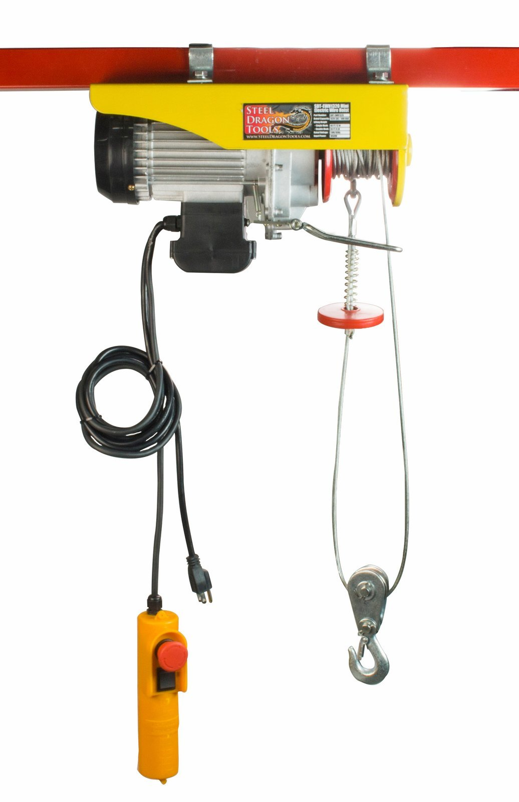 Steel Dragon Tools 1320 LBS Mini Electric Wire Cable Hoist Overhead Crane Lift with Remote Control