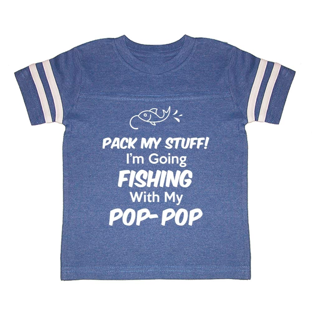 Im Going Fishing with My Pop-Pop Toddler//Kids Sporty T-Shirt Pack My Stuff