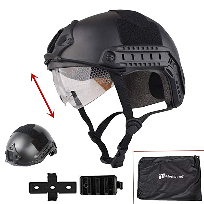 iMeshbean Airsoft Swat Helmet Combat Fast Helmet with Wing-Loc Adapter as a Gift