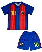 Fc Barcelone Ensemble short et maillot de foot Barcelone enfant Taille de 4 à 14 ans - 4 ans,6 ans,8 ans,10 ans,12 ans,14 ans