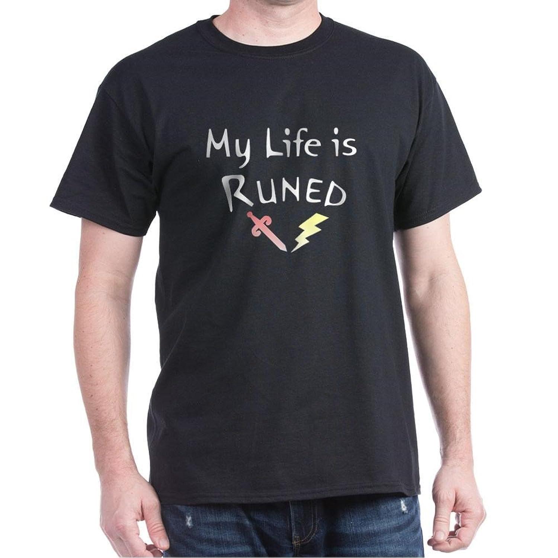 Black flag t shirt uk - Amazon Com Cafepress My Life Is Runed Runescape Fan Adult T Shirt 100 Cotton T Shirt Clothing