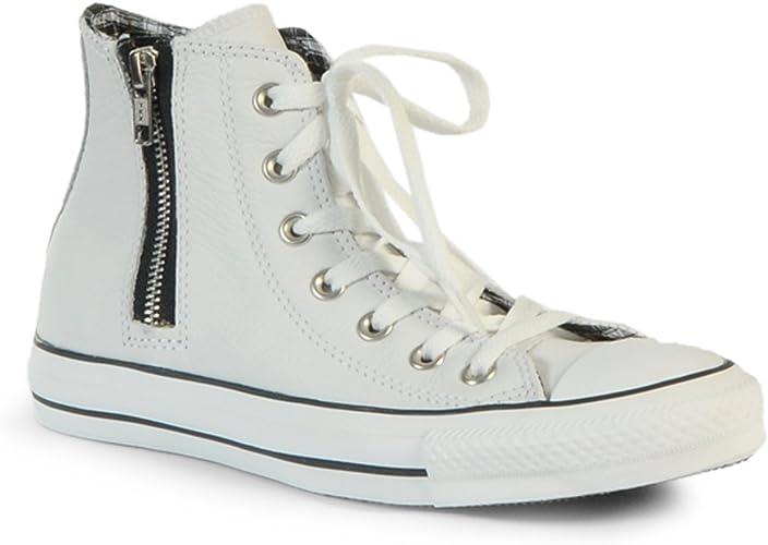 Converse Chuck Tylor AS HI Blanc Cuir - 535374C - taille 38 ...