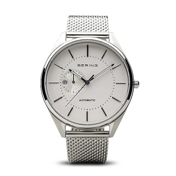 BERING Reloj Analogico para Hombre de Automático con Correa en Acero Inoxidable 16243-000: Amazon.es: Relojes