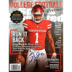 Greg Ward Jr. UNIV OF HOUSTON QB Autographed Sports Illustrated magazine 8/15/16