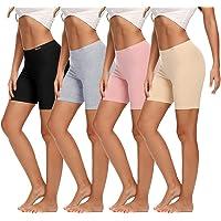 Molasus Womens Cotton Boxer Shorts Underwear Anti Chafing Bike Shorts(Regular & Plus Size)