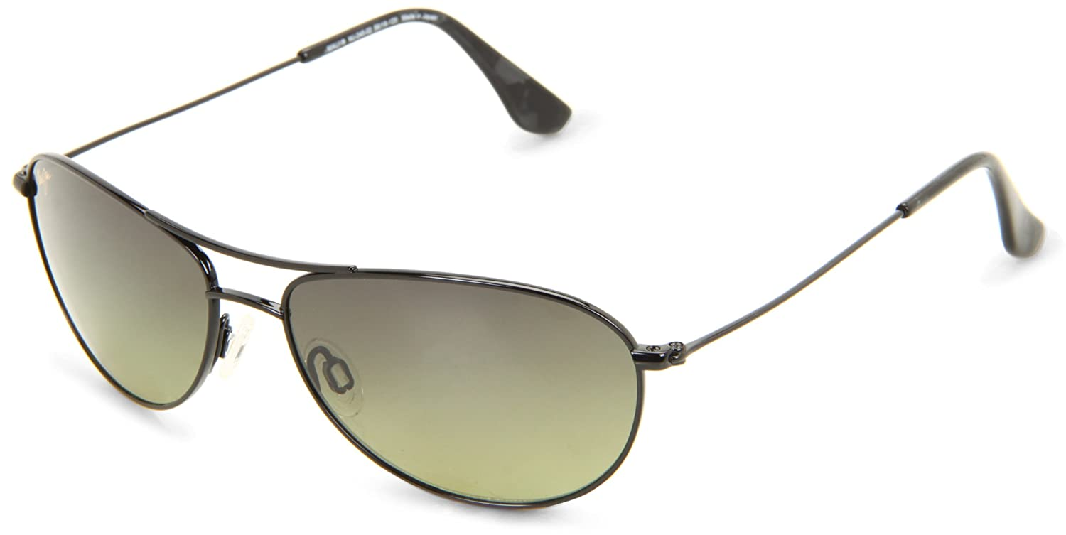 1d8647ed3a Amazon.com: Maui Jim Sunglasses | Women's | Punchbowl 219-03 | Black & Blue  Rectangular Frame, Polarized Neutral Grey Lenses, with Patented  PolarizedPlus2 ...