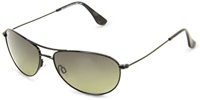 ef83ccca5b2 Image Unavailable. Image not available for. Colour  Maui Jim HTS245-02  Black Baby Beach Aviator Sunglasses Polarised Driving