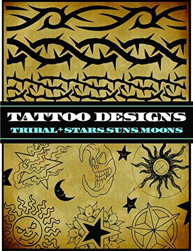 Tattoo Designs: Tribal and Stars, Suns, Moons (Tattoo-U) - Moon Tribal Tattoos
