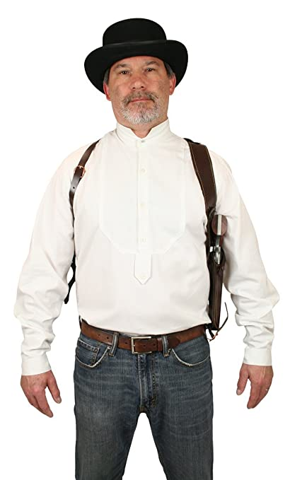 Victorian Men's Accessories – Suspenders, Gloves, Cane, Pocket Watch, Spats Leather Right Hand Draw Shoulder Holster $55.95 AT vintagedancer.com
