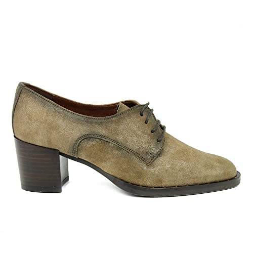 Hispanitas, DAKOTA, Blucher taupe de Mujer: Amazon.es: Zapatos y complementos