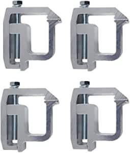 iFJF Mounting Clamps for Truck Caps and Camper Shell Set of 4 (Silver)