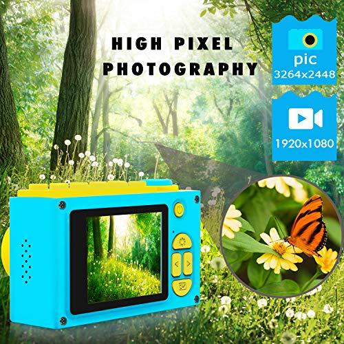 ShinePick Kids Digital Camera Mini 2 Inch Screen Children's Camera 8MP HD Digital Camera with Silicone Soft Cover & Micro SD Card (Blue) by ShinePick (Image #1)