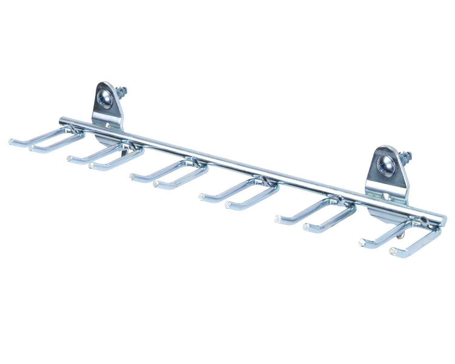 Triton Products 76660 DuraHook 8-1/8-Inch W, 7/16 with 13/16-Inch I.D. Zinc Plated Steel Multi-Prong Tool/Wrench Holder for DuraBoard or 1/8 Inch and 1/4 Inch Pegboard, 5-Pack by DuraHook