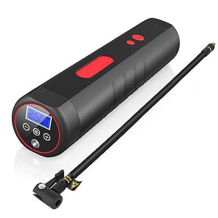 MLYWD Compresor de Aire Bomba de Inflado Eléctrica Inalámbrica con Indicador de Presión LCD Digital y