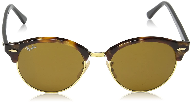 b83e683ab37 Amazon.com  Ray-Ban Clubround RB4246 51 Non Polarized Sunglasses Black  Frame  Green Lenses 51mm  Ray-Ban  Clothing