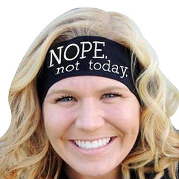 Amazon.com: Diademas de yoga Harley para mujer, con letras ...