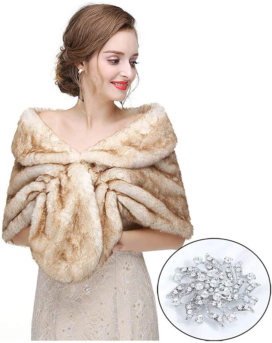CanB Women's 1920s Faux Fur...
