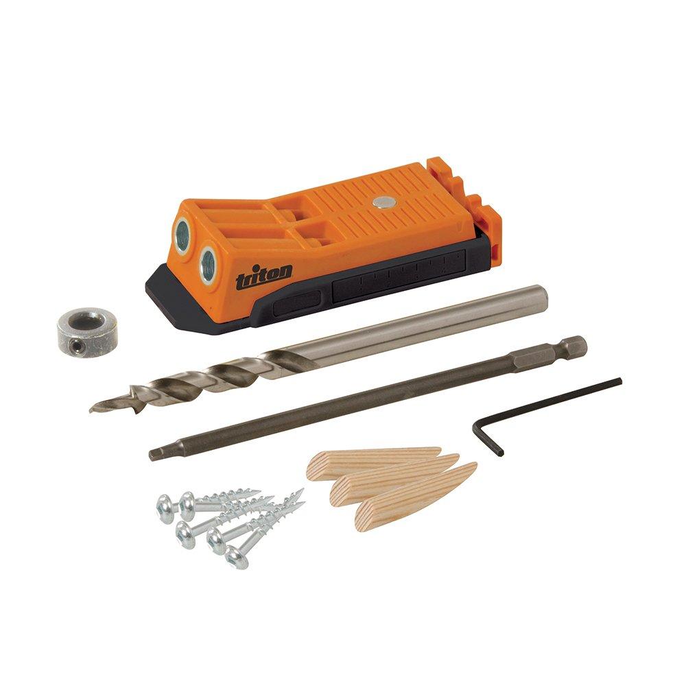 Triton 645362 Mini-gabarit de per/çage oblique double Orange