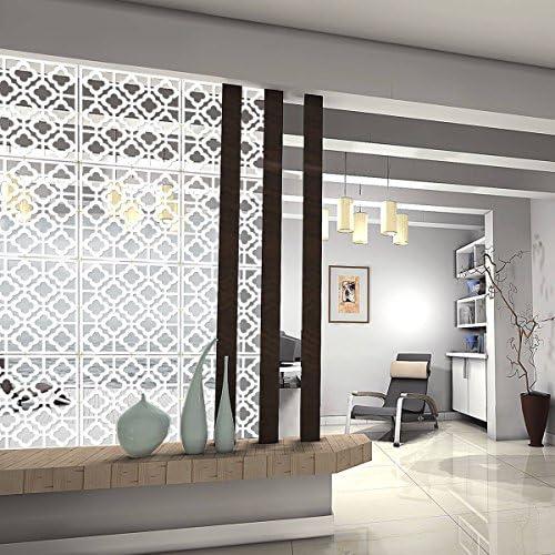 escuela MYEUSSN adhesivo de pared habitaciones Bar panel divisorio de 12 piezas,/de pl/ástico Hotel dormitorio decoraci/ón para sal/ón