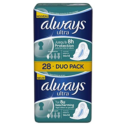 Always Ultra Normal Plus Toalla sanitaria con alas