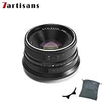 7artisans 25mm F1.8 APS-C Manual Fixed Lens for Fuji Cameras X-A1 X-A10 X-A2,X-A3 X-AT X-M1 XM2 X-T1 X-T10 X-T2 X-T20 X-Pro1 X-Pro2 X-E1 X-E2 X-E2s-Black