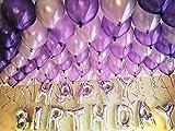 Adult Birthday Party Balloon Ballroom Balloon Set Dinner Adult Birthday Hotel Party Decoration Background Purple Package