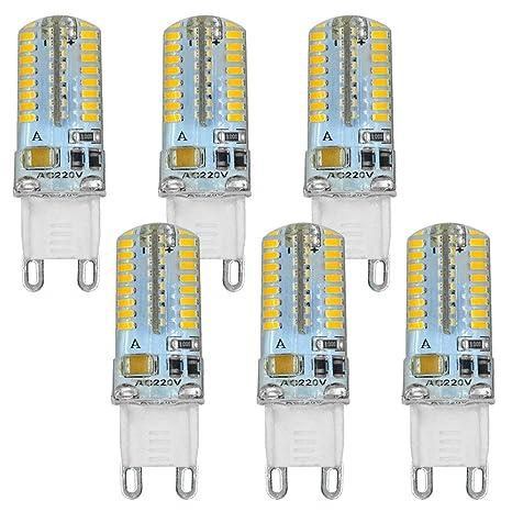 MENGS® Watt 3014 SMDBlanco 240V lámpara G964x 6 3 Pack 220 de Frío Regulable Bombilla 6500KAC LED zpqMSUV