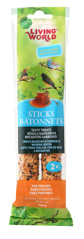 Living World Finch Sticks-Honey Flavour-60gm (2 Ounce), 2-Pack 80690