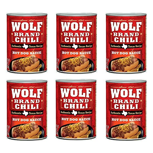 Wolf Brand Chili Hot Dog Sauce, 10 Ounce (Pack of 6)