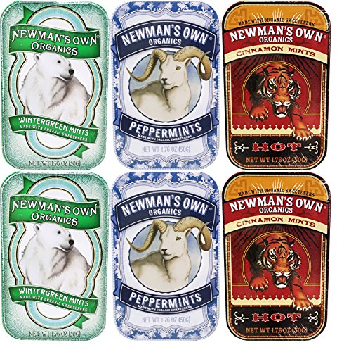 - Newman's Own Organics Mints Variety (Pack of 6)