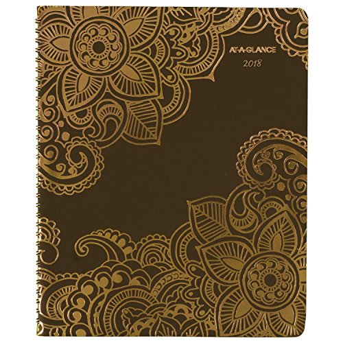 "AT-A-GLANCE Weekly / Monthly Appointment Book / Planner, January 2018 - January 2019, 8-1/2"" x 11"", Henna, Brown (551-905)"
