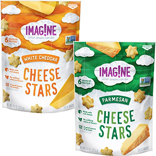 White Cheddar Rice Cakes - Imag!ne Variety Pack, Cheese Stars, 4 Count