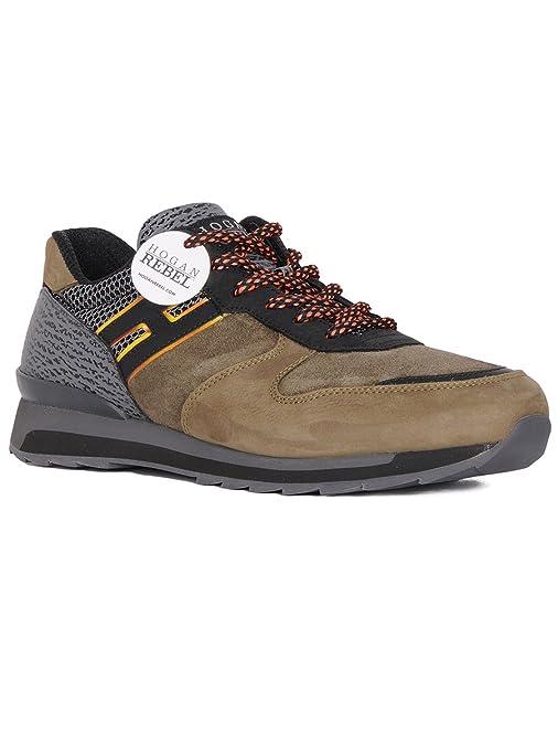 Chaussures baskets sneakers homme en daim r261 allacciato ganci Hogan Rebel 0YRTPH