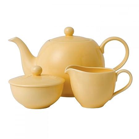 Royal Doulton 3-Piece Maze Buttermilk Beverage Set, Yellow