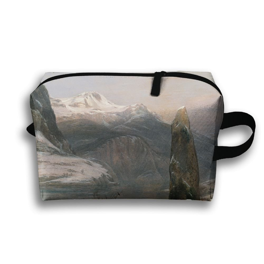 Lqzdqa Unisex Tourist Bag Classic Art Classical Art Johan Christian Dahl J. C. Dahl Mountains Toiletry Bag Sundry Bag