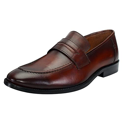 72b68af0358 Brune Brown Color 100% Genuine Leather Penny Loafers for Men Size-6  Buy  Online at Low Prices in India - Amazon.in