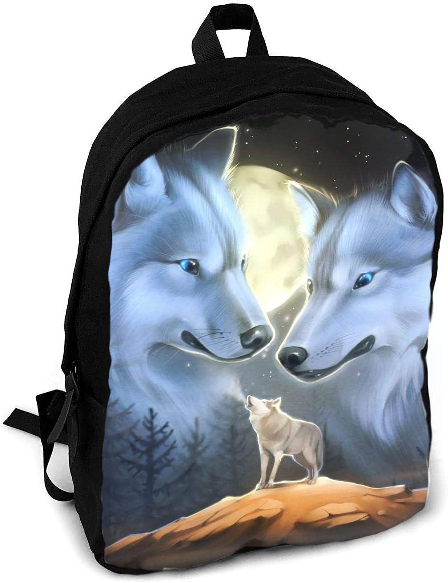 Homebe Animal Moon Night Wolf - Mochila de Viaje para Adultos ...