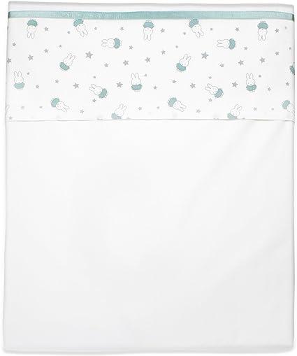 Miffy 1 Drap pour poussette ou lit bébé, 100 x 150 cm, VERT