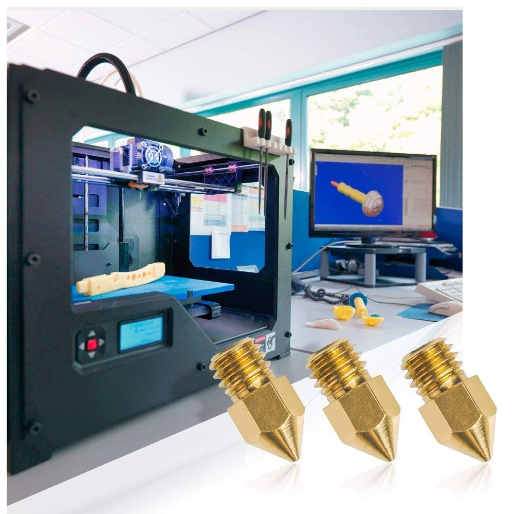 0.4mm 0.2mm 0.8mm 0.5mm 0.6mm 0.3mm 1.0mm FUJIE 20 Pi/èces Buse Imprimante 3D MK8 Extrudeuse T/êtes avec Bo/îte de Rangement Gratuit pour Imprimante 3D Makerbot Creality CR-10