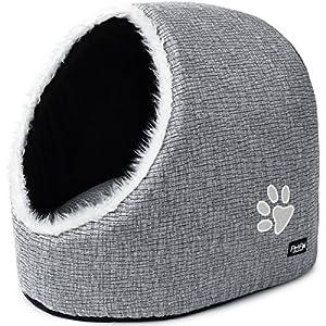 PetPäl Cueva para Animales | para Gatos y Perros pequeños | Casa de Gato Cama Cueva para Perros Mascotas | Suave Cueva…