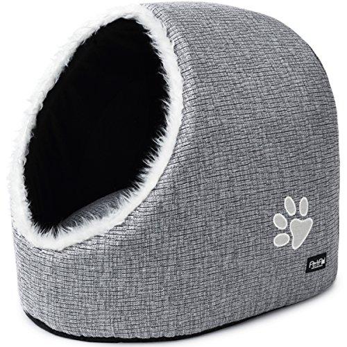 PetPäl Katzenhöhle – DIE Perfekte Kuschelhöhle für Katzen, Kitten, kleine Hunde & Welpen – Ideale Korb Höhle für Drinnen…