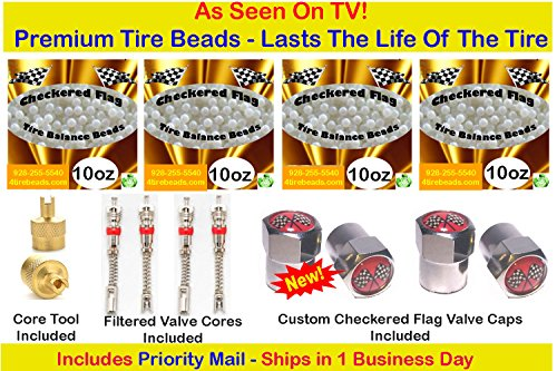 Checkered Flag Tire Beads balancing