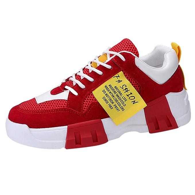 FRAUIT Zapatos de Hombre Zapatos Casuales Zapatillas Deportivas de Malla Transpirable Zapatos para Correr Zapatillas de Deporte para Caminar Zapatillas de Plataforma: Amazon.es: Ropa y accesorios