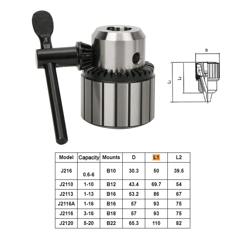 3-16mm 0.6-20mm Drill Chuck Heavy Duty Heavy Duty with Chuck Wrench for Electric Power Tool