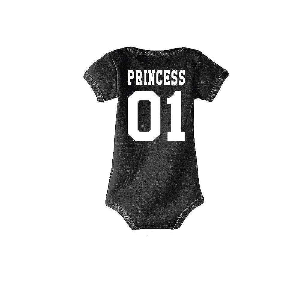 Prince /& Princess//F/ür die ganze Familie//in versch Herren Farben Baby Damen T-Shirts Strampler Set Modell King /& Queen